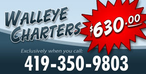 Lake Erie walleye charters ad
